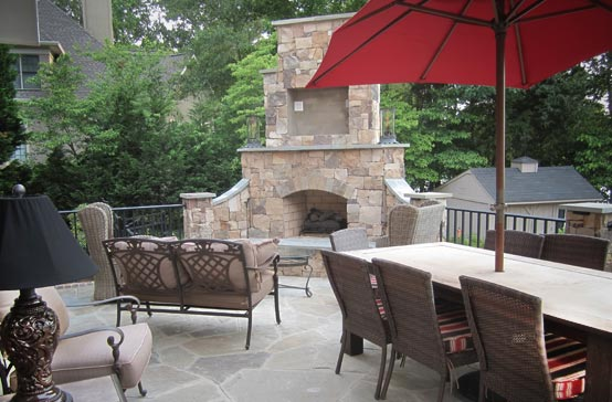 Southern Greenscapes Landscape Design & Construction | Rock Hill, SC | outdoor fireplace and patio