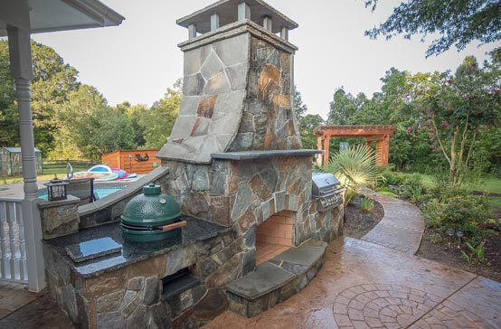 Southern Greenscapes Landscape Design & Construction | Rock Hill, SC | outdoor fireplace