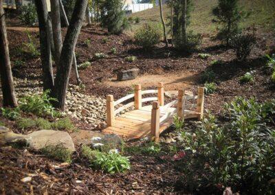 Southern Greenscapes Landscape Design & Construction | Rock Hill, SC | landscapes with small bridge