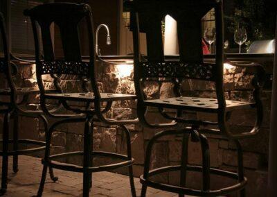 Southern Greenscapes Landscape Design & Construction   Rock Hill, SC   outdoor lighting under outdoor kitchen bar