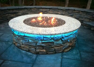 Southern Greenscapes Landscape Design & Construction   Rock Hill, SC   fire pit with lighting