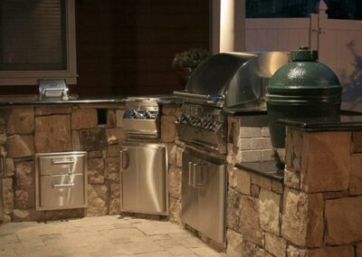 Southern Greenscapes Landscape Design & Construction   Rock Hill, SC   outdoor lighting in an outdoor kitchen