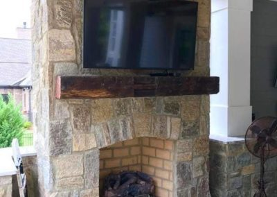 Southern Greenscapes Landscape Design & Construction | Rock Hill, SC | outdoor fireplace with tv