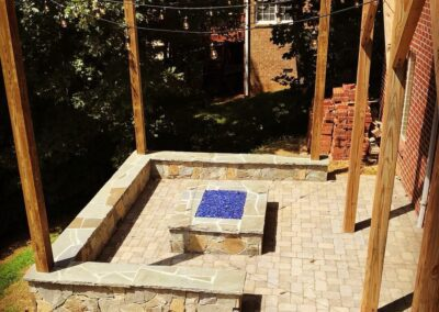 Southern Greenscapes Landscape Design & Construction | Rock Hill, SC | fire pit in patio