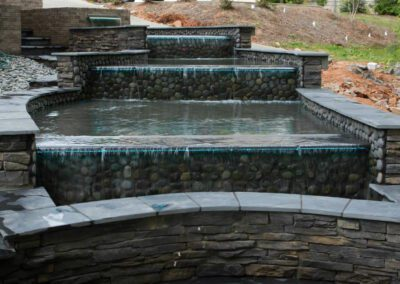 Southern Greenscapes Landscape Design & Construction | Rock Hill, SC | water feature complete