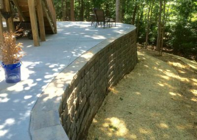 Southern Greenscapes Landscape Design & Construction | Rock Hill, SC | retaining wall after