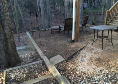 Southern Greenscapes Landscape Design & Construction | Rock Hill, SC | outdoor seating area before