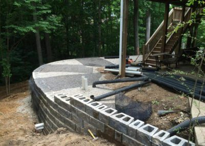 Southern Greenscapes Landscape Design & Construction | Rock Hill, SC | retaining wall before